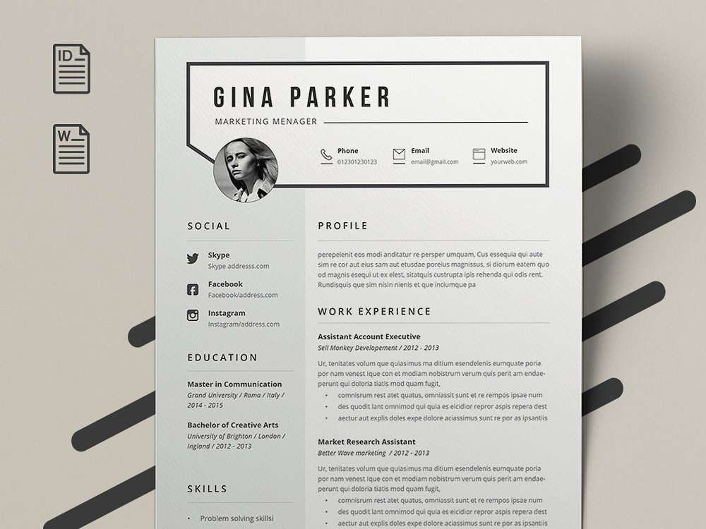 resume gina by resume templates