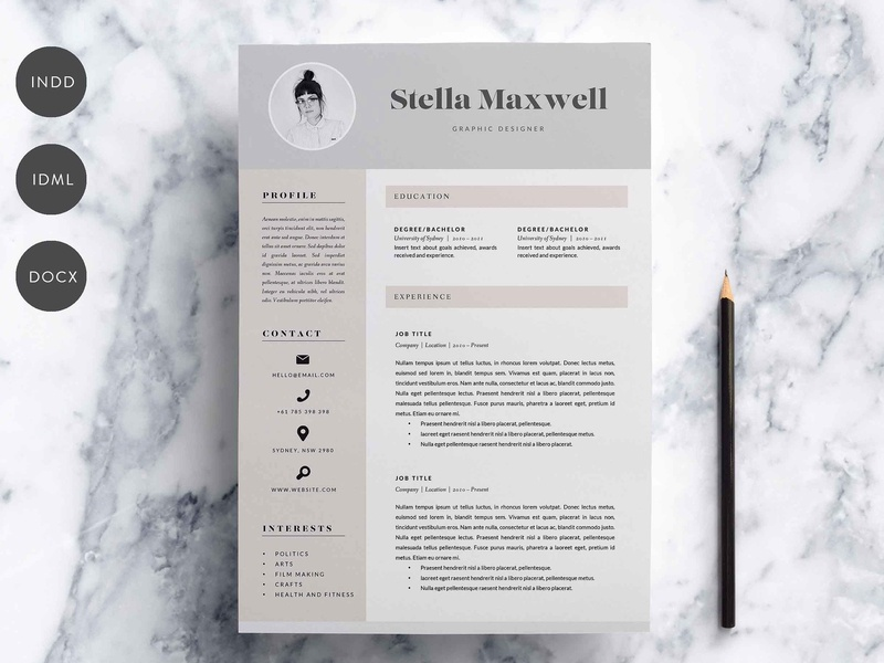 3 Page Resume.3 Page Resume Template Indd Docx By Resume Templates On