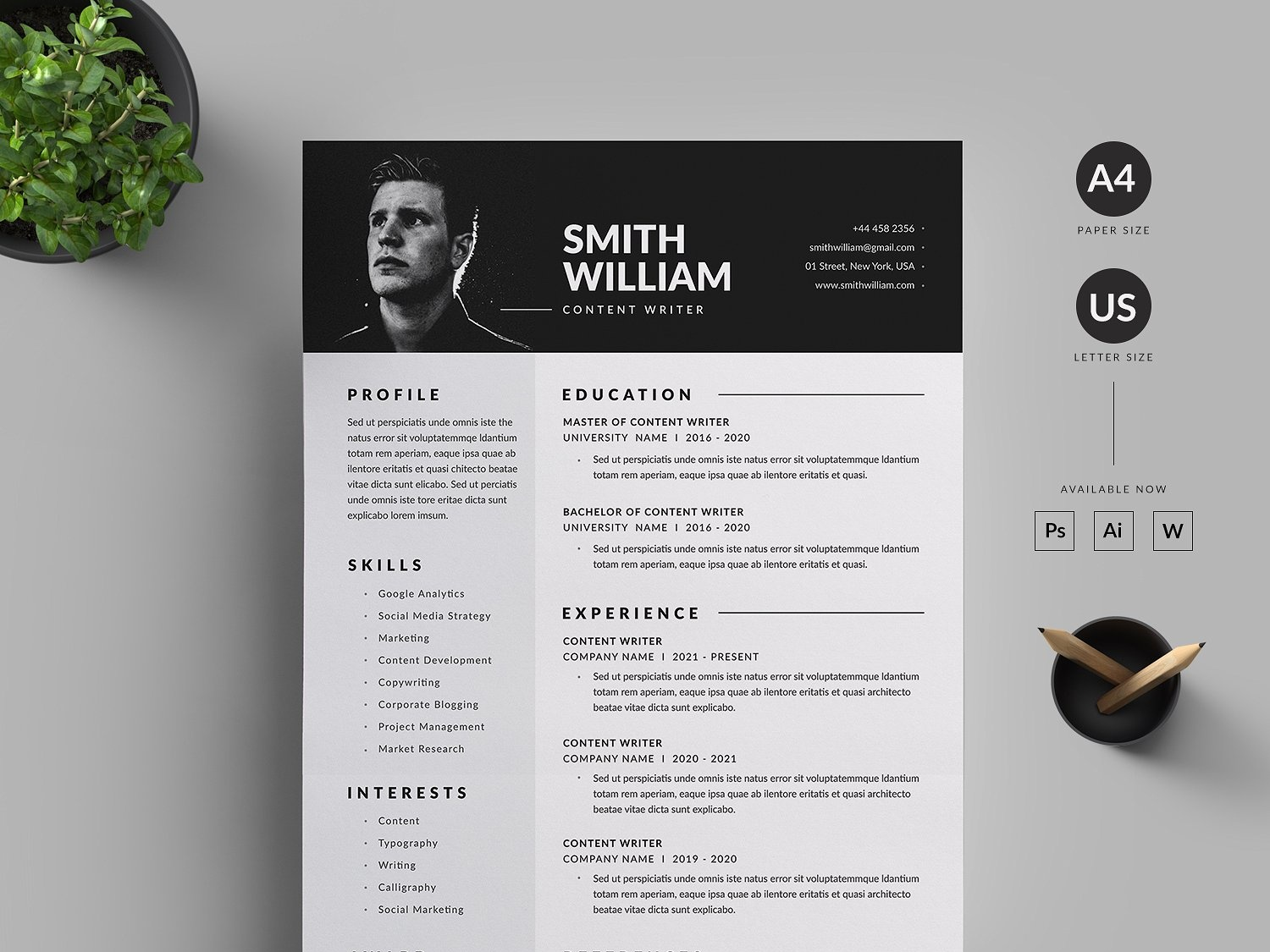 Resume Cv By Resume Templates Dribbble Dribbble