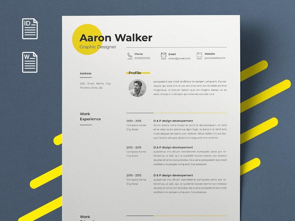 minimal resume by resume templates dribbble dribbble
