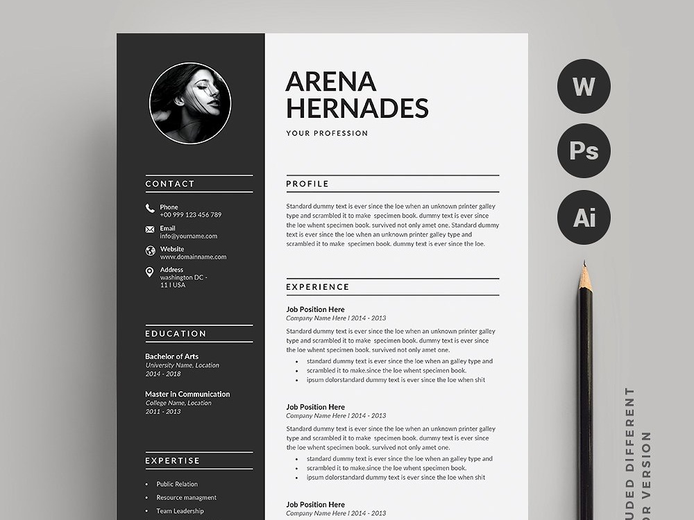 Resume Cv 2 Pages By Resume Templates On Dribbble