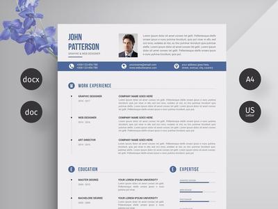 Resume/CV professional resume minimal resume clean resume doc template curriculum vitae a4 professional modern creative resume resume cv template modern resume resume template cv