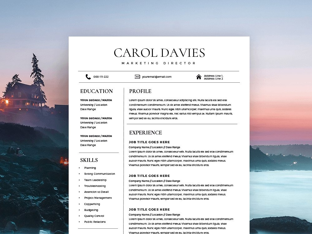 modern resume template cover letter by resume templates dribbble