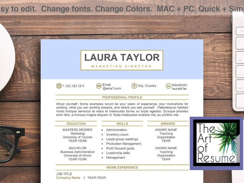 Resume Template For Word Cv Bundle By Resume Templates Dribbble