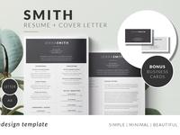 SMITH Minimal Resume Template