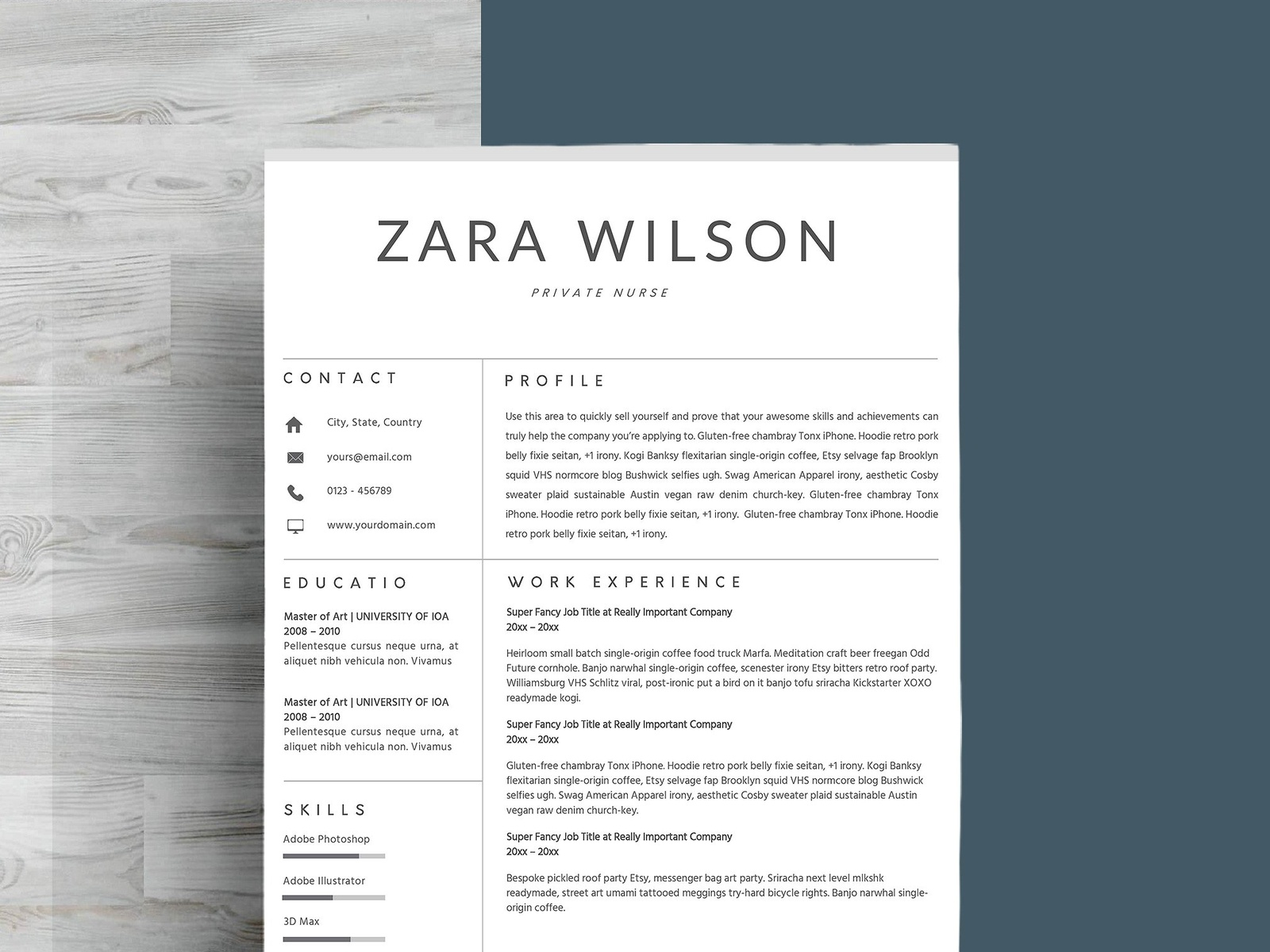 just resume template by resume templates