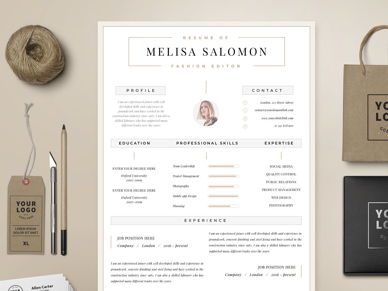 Resume Template 1 Page