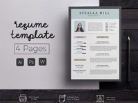 4 Page Resume & CoverLetter Template