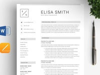 Elegant Resume Template / 4pages