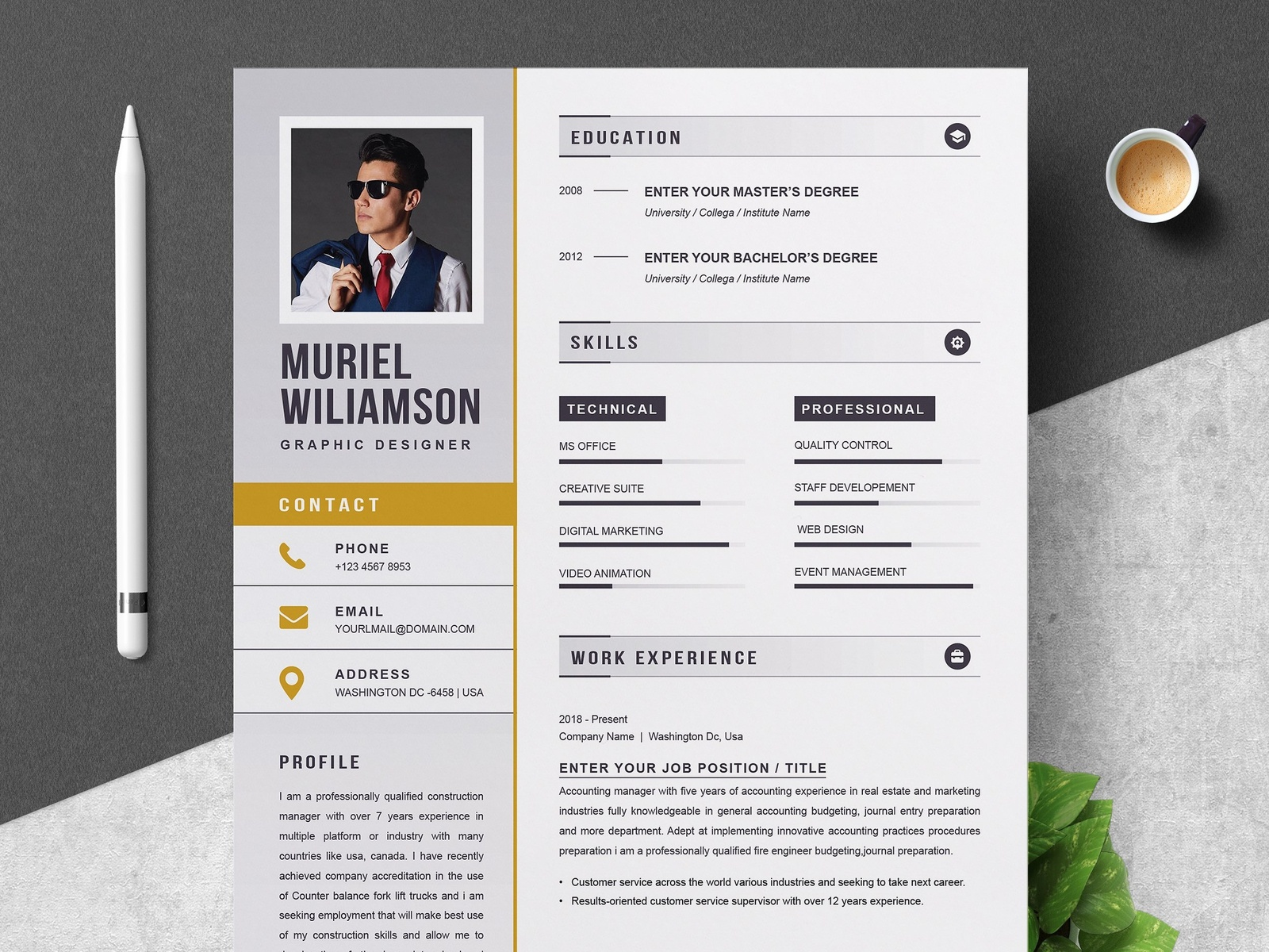 resume template instant download by resume templates