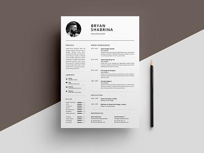 Resume/CV word template modern cv minimal professional resume minimal resume template curriculum vitae professional modern modern resume creative resume cv design elegant resume clean resume cv templates resume templates cv template resume template cv resume