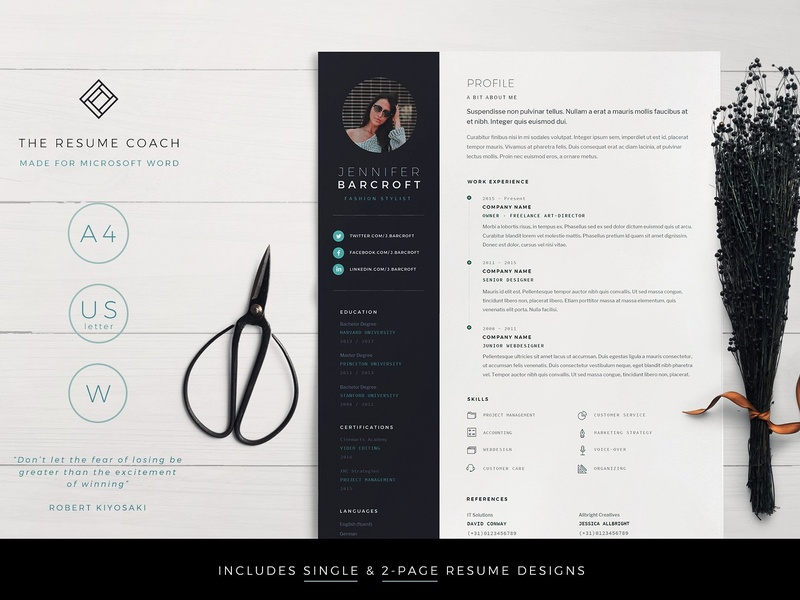 Resume Template Cv By Resume Templates On Dribbble