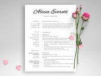 """1, 2 & 3 Page Resume / CV """"Alicia"""""""