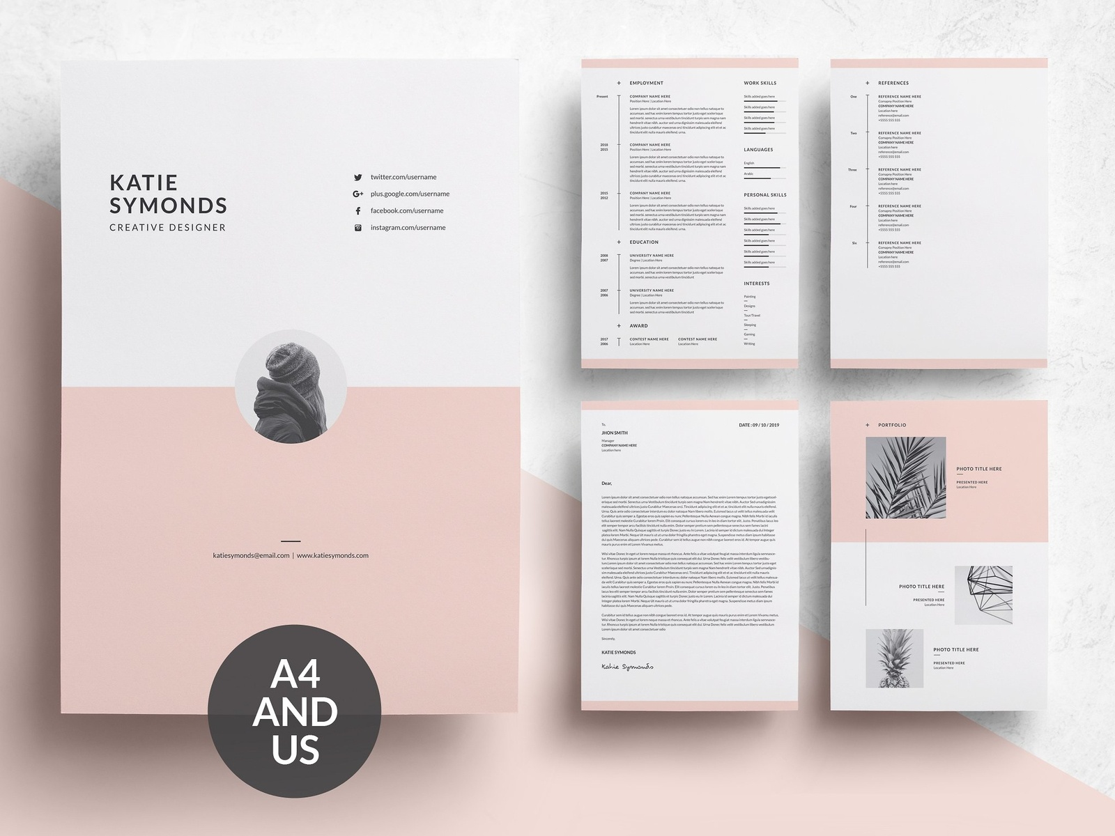 Word Resume & Cover Letter Template by Resume Templates - Dribbble
