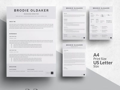 3 Pages Professional Resume Template design resume templates modern cv minimal cover letter professional resume doc minimal resume a4 template clean resume curriculum vitae professional creative resume modern resume cv template modern resume resume template cv