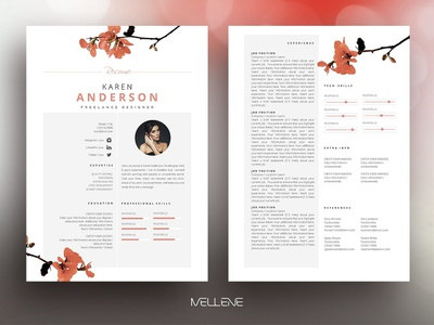 Resume / CV template - Karen design modern cv resume templates minimal professional resume doc minimal resume a4 template clean resume curriculum vitae professional creative resume modern resume cv template modern resume resume template cv