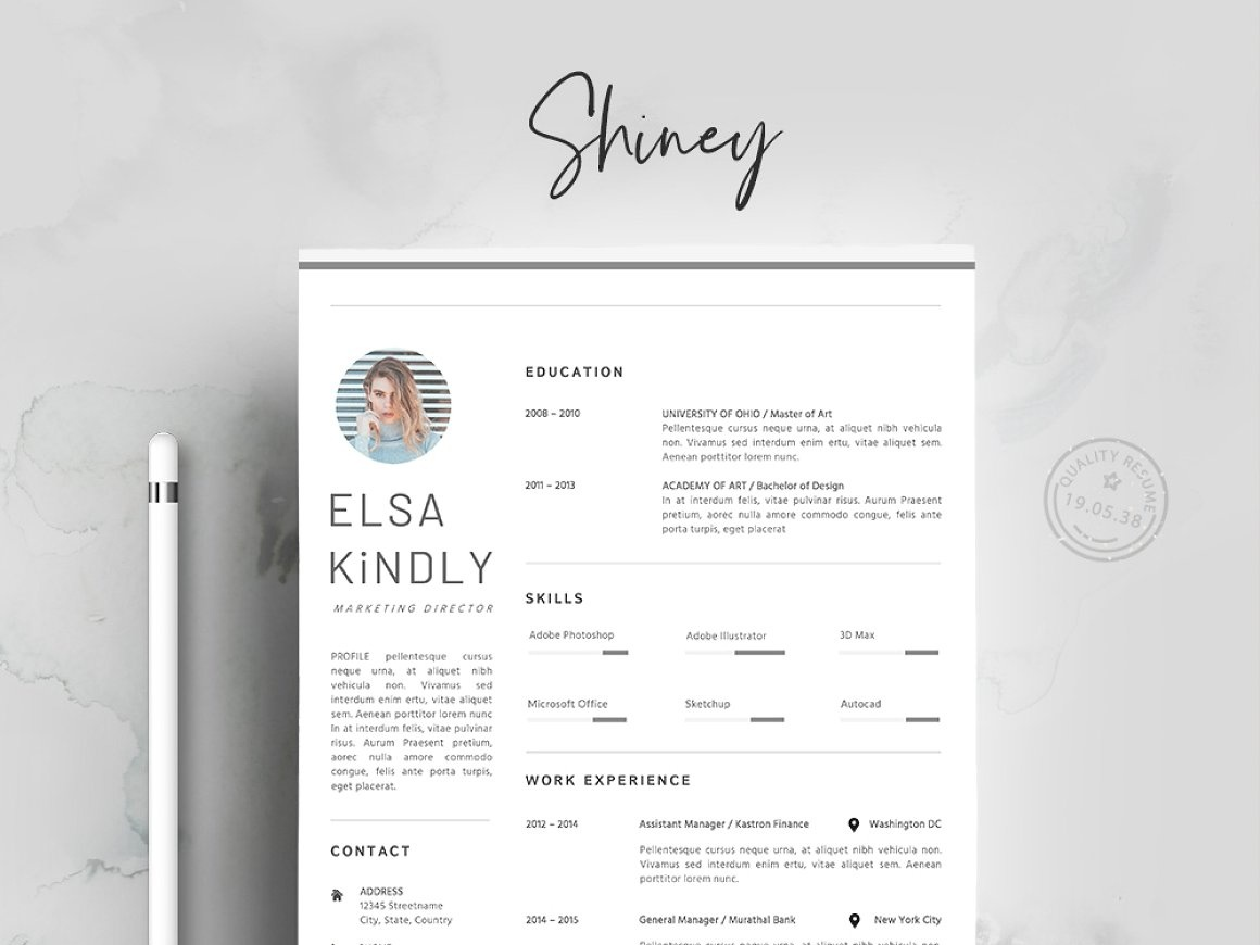 Resume Template 3 Pages Cv By Resume Templates On Dribbble
