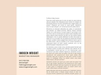 Imogen Resume Cover Letter Bundle