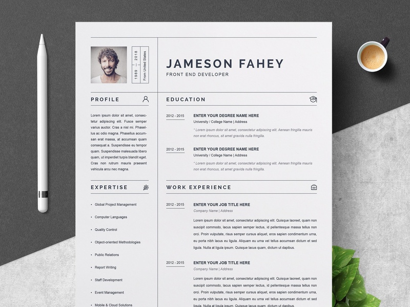 clean resume    cv template by resume templates
