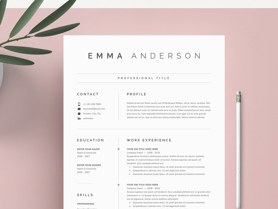 Word Resume & Cover Letter by Resume Templates on Dribbble
