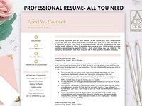 Resume Template in Blush Pink