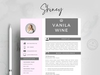 Creative Resume Template 4 Pages