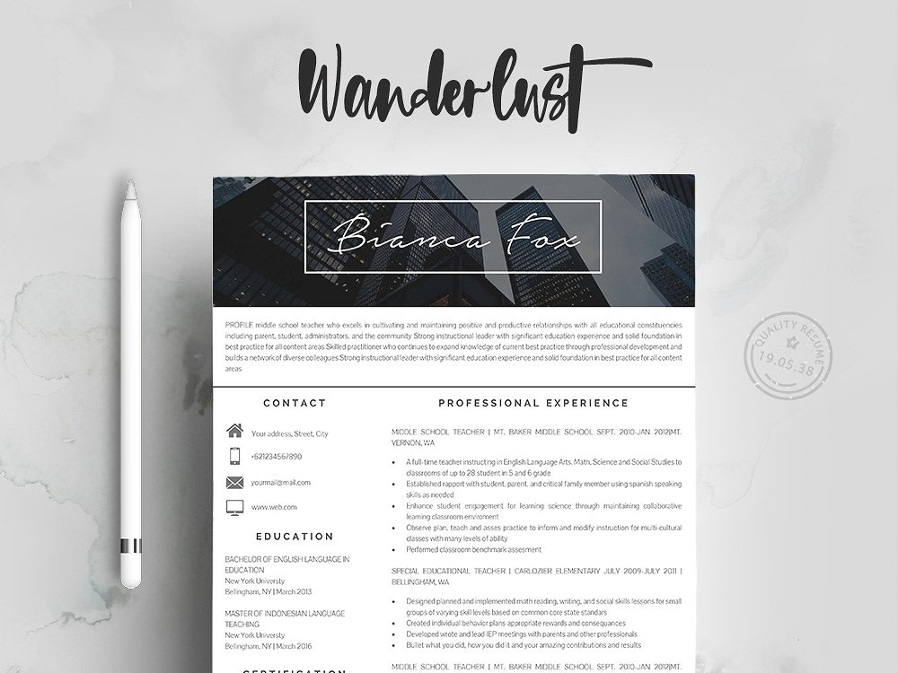 Professional Resume Templates by Resume Templates Dribbble Dribbble