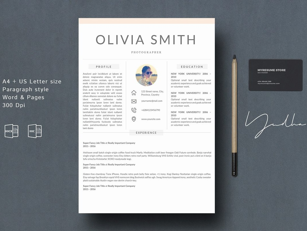 Resume Template 4 Pages by Resume Templates on Dribbble