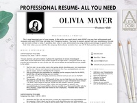 Resume Template with Photo in Black