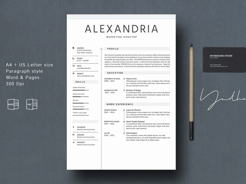 Creative Resumes Templates | Resume Template Creative Cv By Resume Templates Dribbble Dribbble