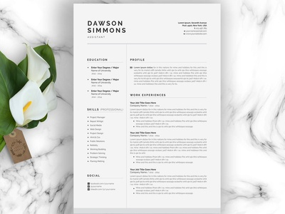 Resume Template 3 Page | CV Template cv resume cover letter word template modern cv minimal professional resume minimal resume template clean resume curriculum vitae professional creative resume modern modern resume resume templates resume cv template cv resume template