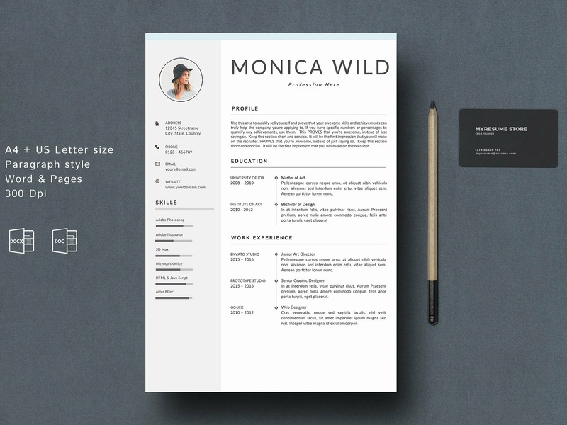 Resume Template | CV Word Mac by Resume Templates | Dribbble | Dribbble