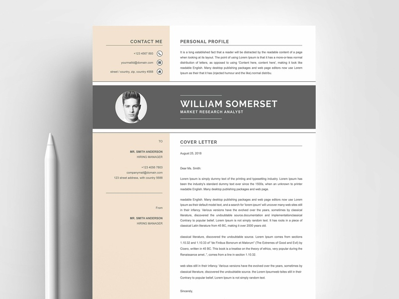 resume template by resume templates dribbble dribbble