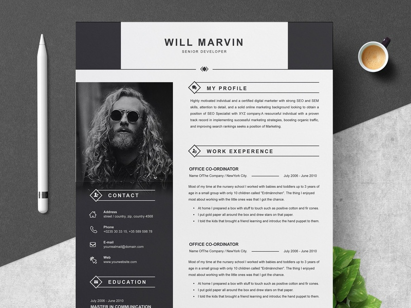 Professional Resume Template By Resume Templates Dribbble Dribbble