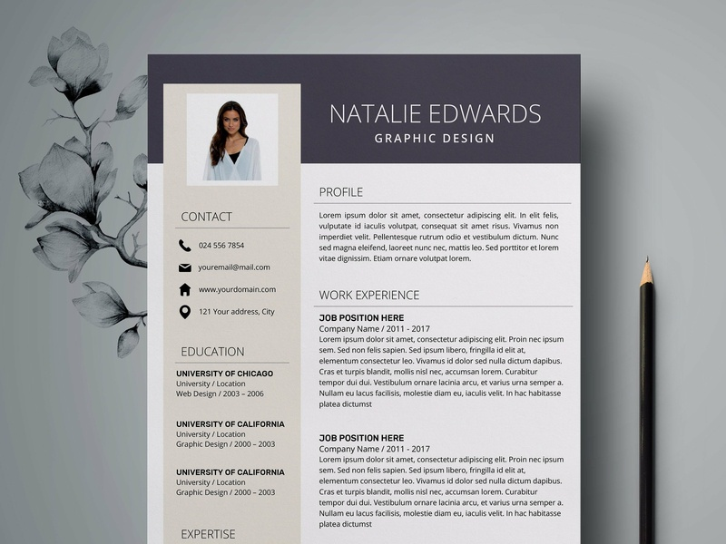Resume Template | CV + Cover Letter by Resume Templates on Dribbble
