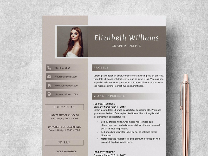 Resume Template | CV + Cover Letter template resume template minimal minimal resume professional clean resume modern a4 resume editable resume word template modern resume creative resume professional resume word resume resumes cover letter cv template cv resume templates resume