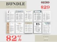 Simple Resume BUNDLE Template M