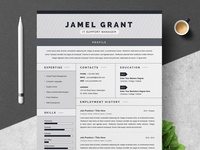 One Page Creative Resume Template