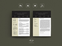 Feather Resume / Card Template