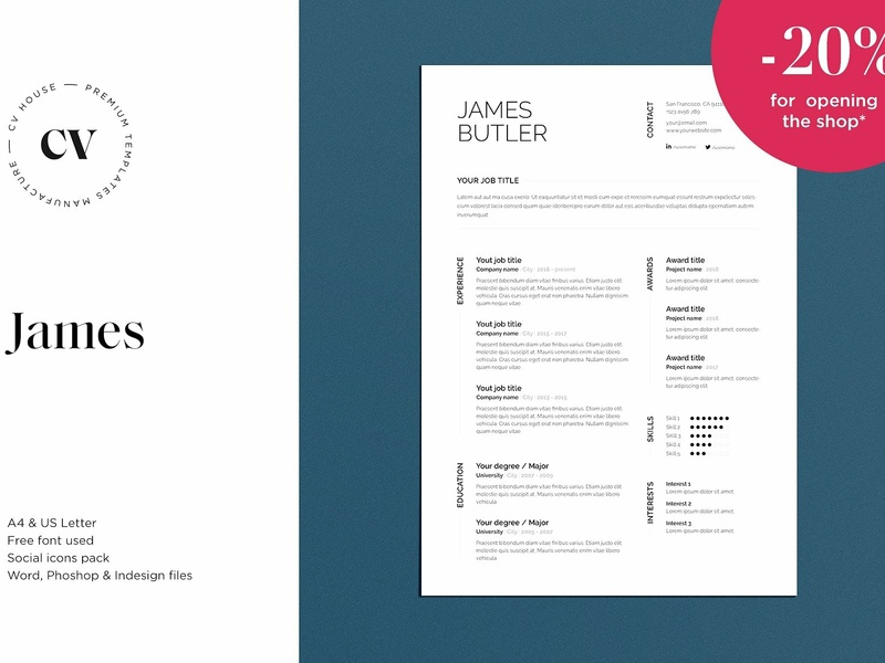 James Cv Resume 3 Pages By Resume Templates On Dribbble