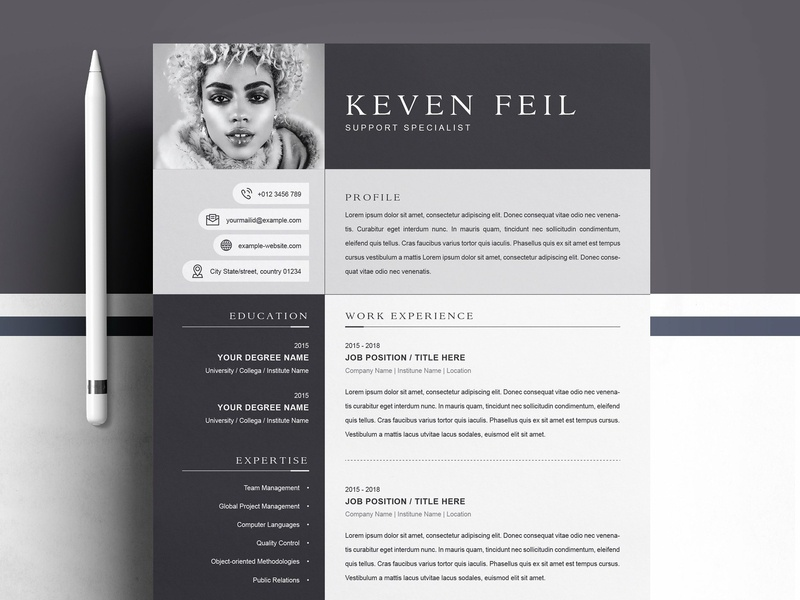 Professional Resume Cv Template By Resume Templates Dribbble