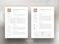 Sale! CV / Resume template - Barbara