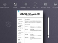 2 Pages Resume Template Word