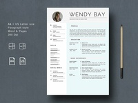 3 Pages Word Resume Template
