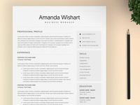 Resume Template Word and 4 Pages