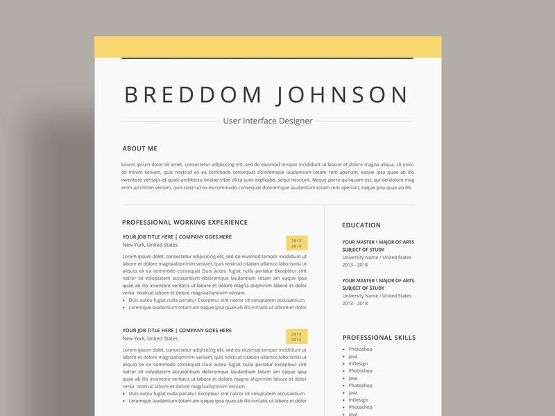 Word Resume us letter design word template modern cv doc minimal a4 professional resume minimal resume curriculum vitae template clean resume professional creative resume modern cv resume cv template modern resume resume template
