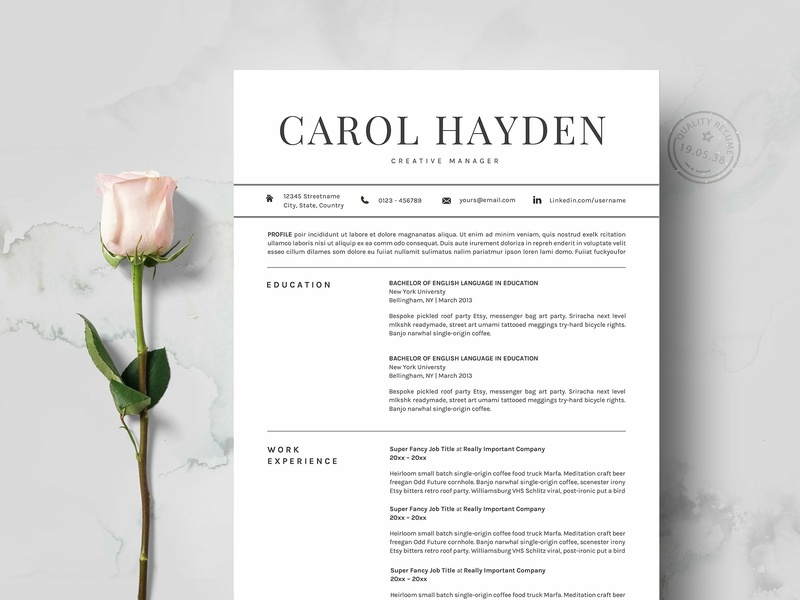 Resume Template 2 pages CV resume templates us letter design word template modern cv doc minimal a4 professional resume minimal resume curriculum vitae template clean resume cv template professional resume creative resume modern modern resume resume template