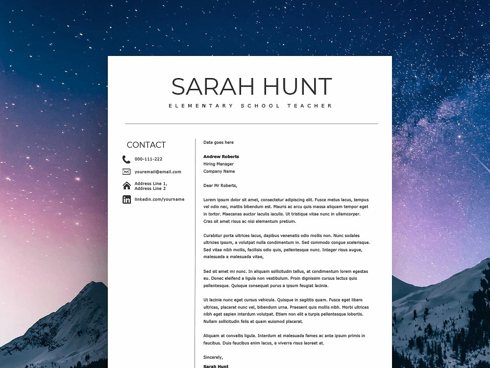 Teacher Resume Template 2019 By Resume Templates On Dribbble