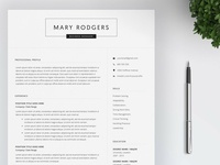 Resume Template / 4 Page CV