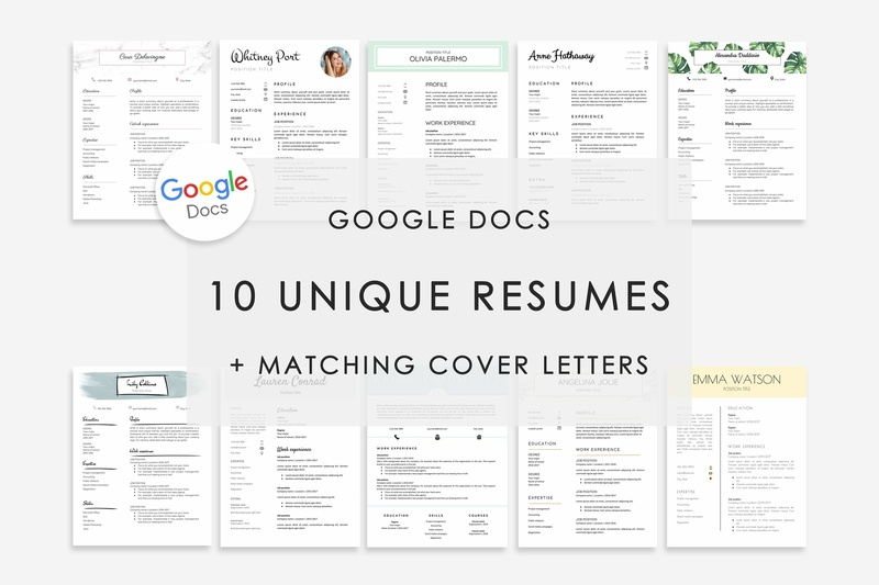 Resume Template Google Docs 10x By Resume Templates